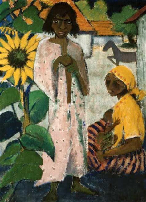 gypsy  sunflowers otto mueller  art print  hand