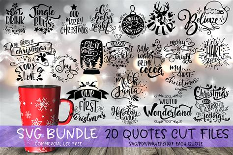 Get ready for the holiday season with these free svg files from some of my favorite crafty people! Christmas Quotes Bundle Graphic by SVG Story · Creative ...
