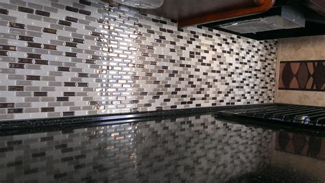 self adhesive kitchen backsplash tiles rv mods smart tiles self adhesive kitchen tile backsplash