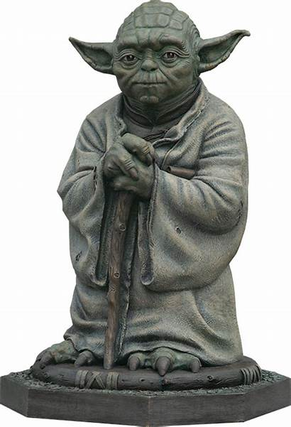 Yoda Bronze Statue Sideshow Collectible Figure Collectibles