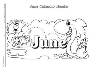 june clipart black and white free calendar headings cliparts free clip