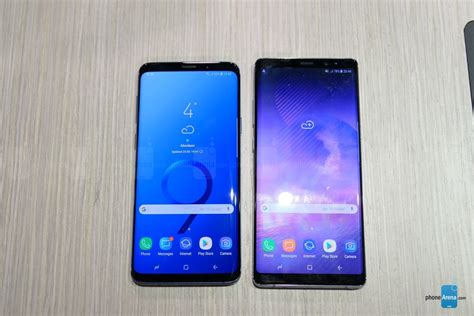 samsung galaxy s9 samsung galaxy s9 vs samsung galaxy note 8 look