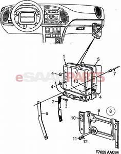 4662565  Saab Engine Control Module