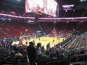 Rockets Seating Chart Toyota Center Section 112 Houston Rockets