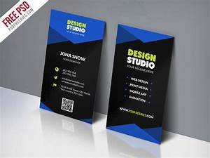 Design studio business card template free psd for Designer visiting cards templates