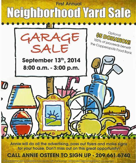 Garage Sale Flyer Template Word by Copper Gazette Neighborhood Yard Sale