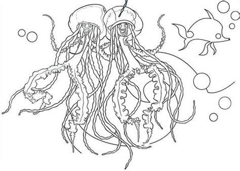 singing jellyfish coloring page  kids