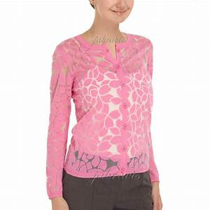 YOANA BARASCHI Indian Pink Aloe Flower Burnout Cardigan Sweater NWT EBay