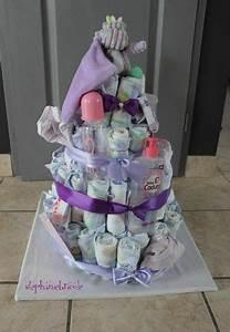 Idée Cadeau Avec Photo Faire Soi Meme : gateau de couches garcon a faire soi meme arts culinaires magiques ~ Farleysfitness.com Idées de Décoration