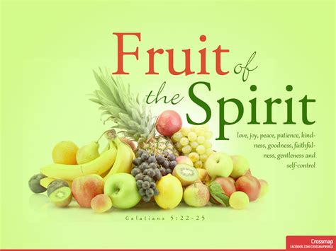 a fruitful spirit the fruit of the spirit crossmap