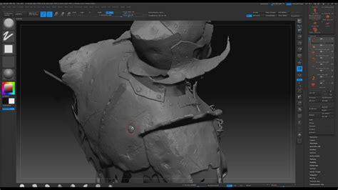 sculpting armor damage  zbrush youtube