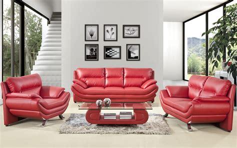 Red Leather Sofa Living Room Design   Living Room