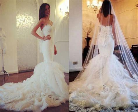White/ivory Tulle Mermaid Wedding Dresses, Ruffled Bridal