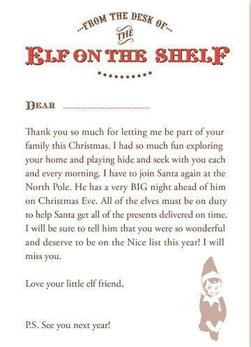 creative    goodbye   elf   shelf