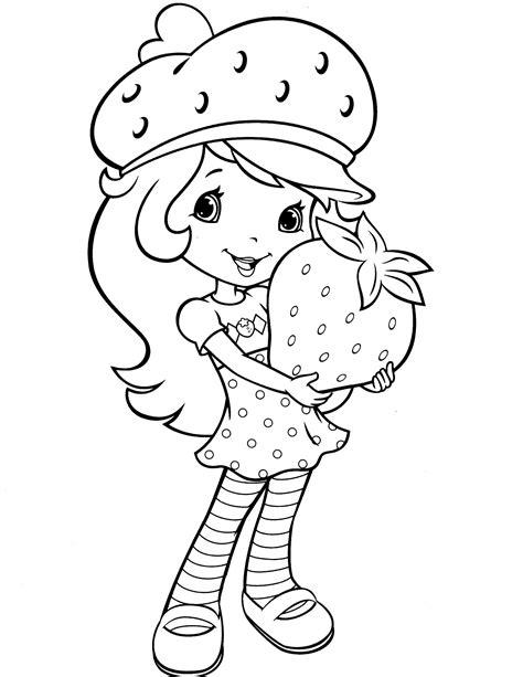 strawberry shortcake coloring page fresitas paginas