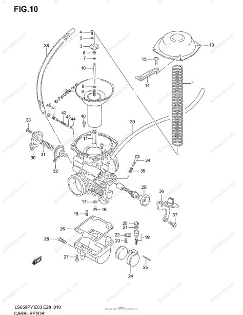 Suzuki Motorcycle Oem Parts Diagram For Carburetor