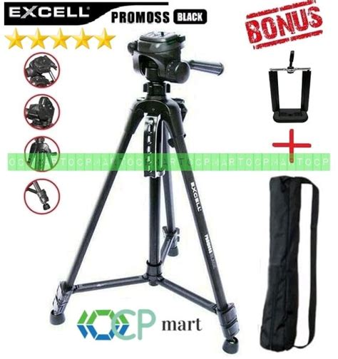 tripod excell promoss black kamera slr dslr mirrorless
