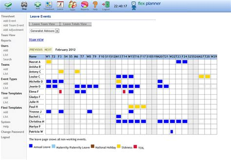 annual leave planner template planner template