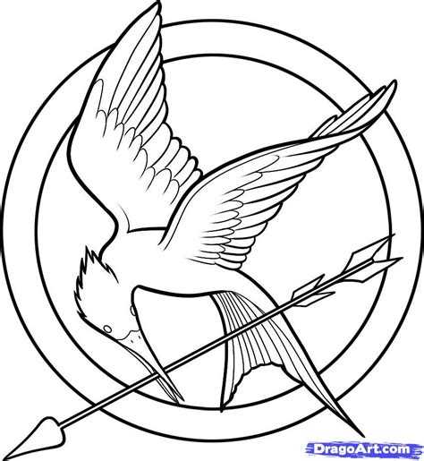 draw hunger games  hunger games logo step