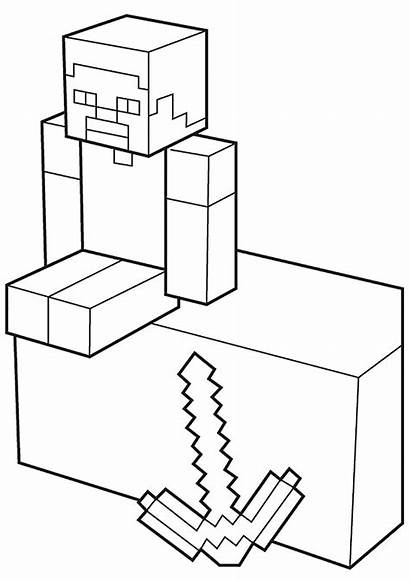 Minecraft Coloring Pages Creeper Survival Flies Comes