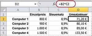 Mehrwertsteuer Berechnen Excel : anzeigen von zahlen als prozentwerte excel ~ Themetempest.com Abrechnung
