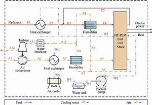Schematic Diagram Of Direct Hydrogen Fuel Cell System