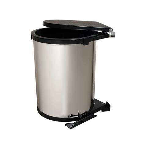 chrome bathroom trash can with lid shop knape vogt 8 gallon chrome look plastic trash can