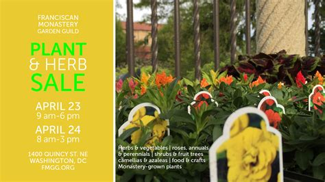 Franciscan Monastery Garden Guild by Our Annual Plant Amp Herb Sale Is April 23 24 2016