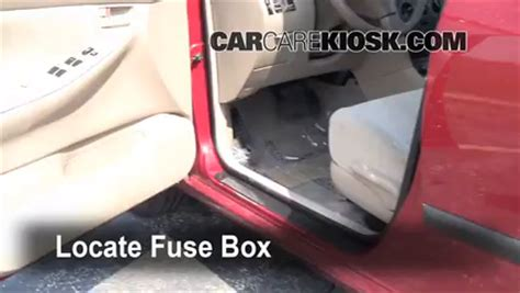 interior fuse box location   toyota corolla