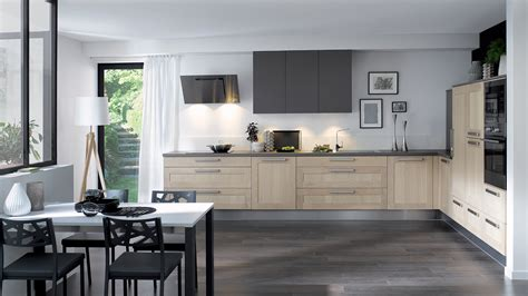 cuisine 233 quip 233 e wooden style authentique bois cuisinella