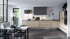 Cuisine equipee wooden style authentique bois for Idée peinture salon salle À manger pour petite cuisine Équipée