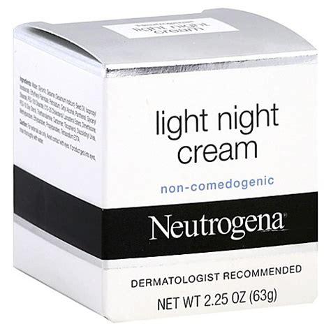 neutrogena light night cream neutrogena 2 25 oz light night cream bed bath beyond