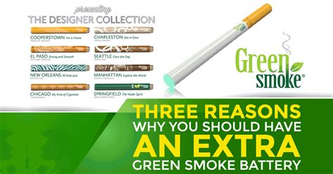 Three Reasons To Have An Extra Green Smoke Battery
