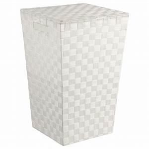 Panier A Linge Blanc : panier linge 53cm blanc ~ Teatrodelosmanantiales.com Idées de Décoration