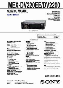 Sony Mex-dv2200  Mex-dv220ee Service Manual