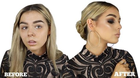 NIGHT OUT GRWM   MAKEUP HAIR u0026 OUTFIT - YouTube
