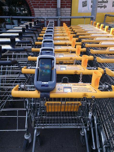 winkelwagens met smartphone houder  jumbo nieuwkoop