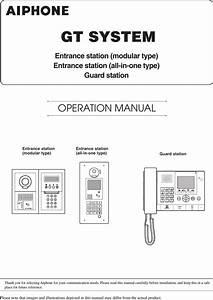 Gtdbvn Gt Apartment Intercom System User Manual Eng Gt