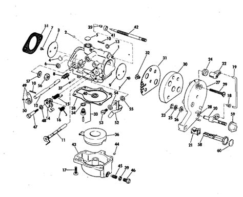 20 Hp Johnson Outboard Diagram by Johnson Carburetor Parts For 1971 20hp 20r71s Outboard Motor