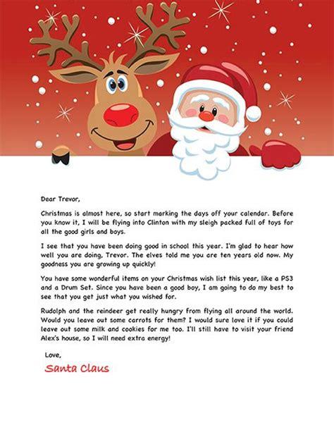 unique santa letter ideas  pinterest letter