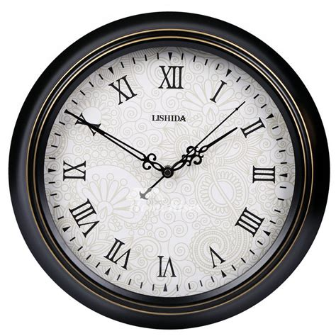 retro wall clock  decorative silent hanging