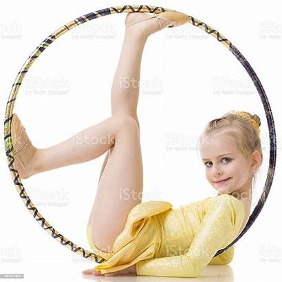 Gymnast Hula Hoop Isolated Istock Royalty