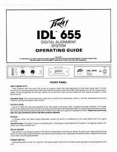Peavey Idl 655 Digital Alignment System Owner Manual