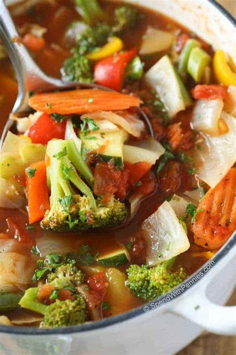 weight loss vegetable soup recipe spend  pennies