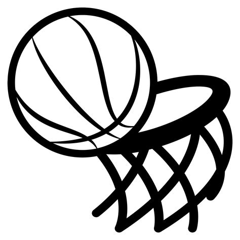 basketball clipart black and white basketball hoop black and white png