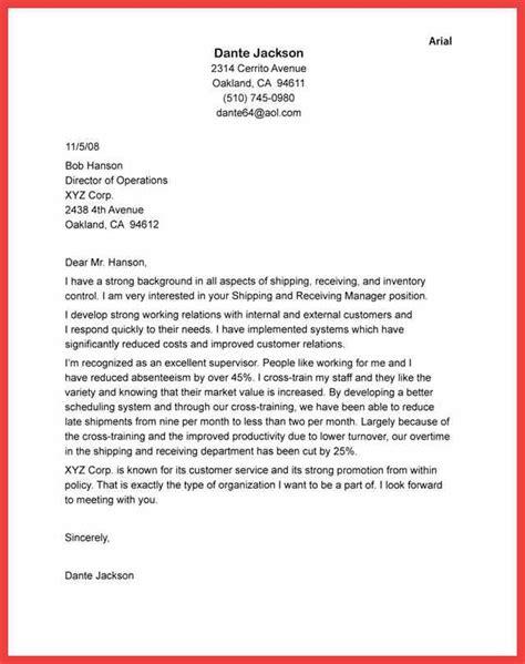 cover letter heading return  samples