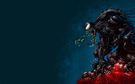 Spider Man, Venom, Digital Art, Drawing Wallpapers Hd