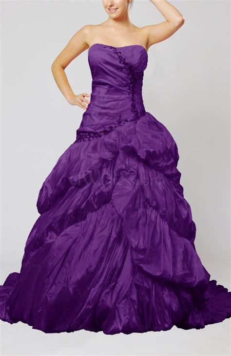 dark purple disney princess hall strapless sleeveless