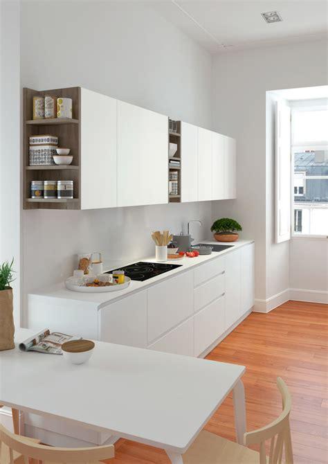cocina blanca  detalles de madera