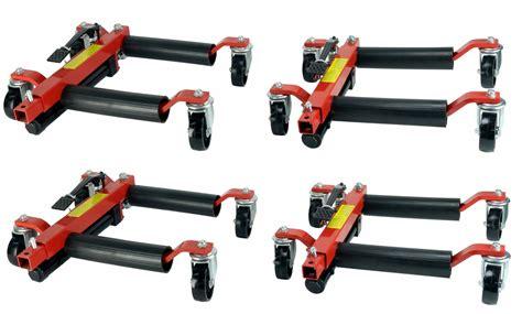 (4) Hydraulic Car Wheel Dolly Jack Positioning Hoist